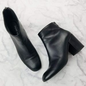 Stuart Weitzman Bacari Bootie Black Napa Leather